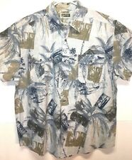 Route 66 Original Clothing Co SzXL Mens Button Front Shirt Hawaiian Print Pocket