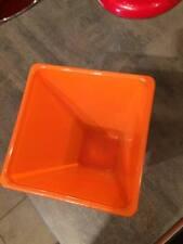 Bright orange glass vase RRP£25 flowers wedding christmas gift square 17x10cm
