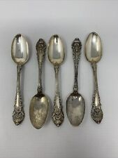"""New listing 5 Sir Christopher by Wallace Sterling Silver Teaspoon 6"""" - No Mono"""