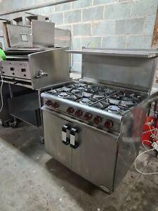 commercial 6 burner gas cooker oven