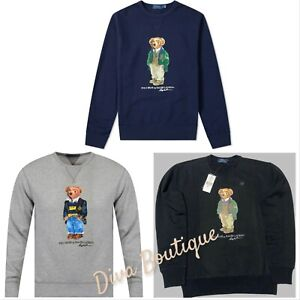Polo Ralph Lauren Polo Bear Sweatshirt Grey Blue Black S M L XL