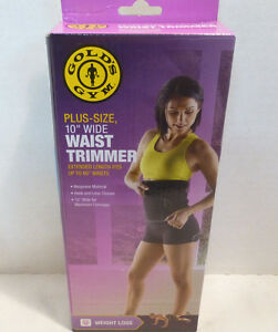 "Gold's Gym Plus Size 10"" Wide Waist Trimmer Weight Loss Adjustable 60"" Waist"