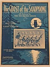 THE GHOST OF THE SAXOPHONE jazz song SIX BROWN BROTHERS Chicago CLOWN BAND 1917