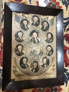 Antique Vintage N Currier Framed lithograph presidents of the United States
