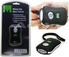 Dynamo Wind-Up Mini Compact Soft Rubber LED Torch Light