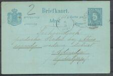 N.I., RONDST. BANDJARNEGARA 3/11/1892 OP BRIEFKAART 5 CT. - TJILATJAP   Zj304