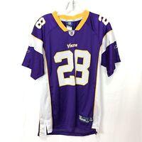 Reebok On Field  NFL Vikings Adrian Peterson #28 Youth Size XL 18-20 Purple