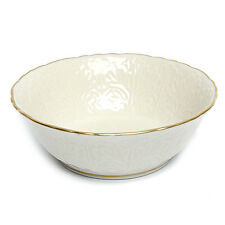 Vintage 1970s Lenox Ivory with 24K Gold Scalloped Rim Candy Dish Nut Bowl