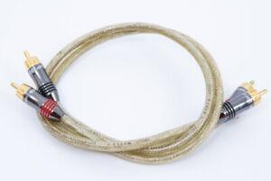 QED Qunex 3 30th Anniversary Silver dual balanced RCA cables - .5m pair