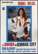 LA BOMBA DI KANSAS CITY MANIFESTO RAQUEL WELCH ROLLER DERBY 1972 MOVIE POSTER 4F