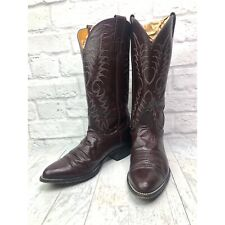 Vintage Nocona Cowboy Burgundy Boots Mens Size 7.5 D Made in the USA