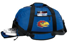 University of Kansas Duffle Bag or Gym Bags Separate Shoe Pocket!