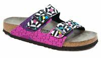 Birkenstock Sandals ARIZONA Sonar Geometric graphic narrow Retro 80s Style NEW