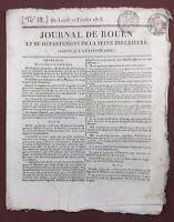 Château de Rivoli 1813 Italie Moskova Cadix Wellington Espagne Journal de Rouen