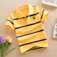 Toddler Baby Kids Boys Top Tee Short  Sleeved  Polo T-shirt Size 4,5,6,7,8,9,10T