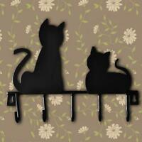 Cat Wall Clothes Hanger Coat Hook Hanging Door Hooks Hat Rack Metal Decor Robe