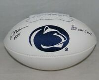 CURT WARNER AUTOGRAPHED SIGNED PENN STATE NITTANY LIONS LOGO FOOTBALL JSA