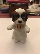 Hollohaza St. Bernard Dog Porcelain Figure- Hungary- Free Shipping
