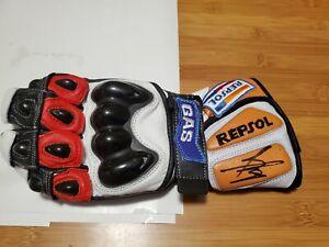 Marc Marquez Hand Signed Repsol Honda Gas Glove. Photo COA Proof
