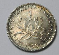 FRANCE 1 FRANC SEMEUSE 1920 FABULEUX PATINE