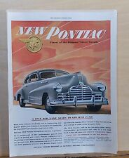 1946 magazine ad for Pontiac - Finest of the Famous Silver Streaks, greater fame