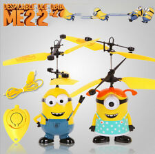 Despicable ME 2 Minion Sensor RC Helicopter Flying Fairy Kids Toy Gift Xmas*