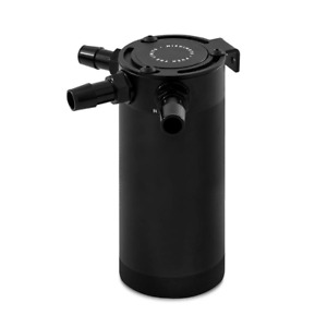 Mishimoto X-Large Compact Baffled Oil Catch Can - 3 Port - Black