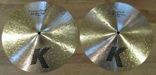 """Used Zildjian 14"""" K Custom Dark Hi Hat Cymbals - Nice Pair HiHats K0944 / K0945"""
