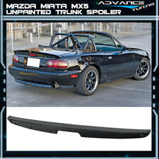 Fit 90-97 NA Mazda Miata MX5 KG Works Style Unpainted MK1 ABS Trunk Spoiler Wing