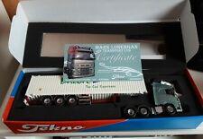 """Tekno Volvo in 1:50 """"Lonergan"""" mit Containertrailer, Vitrinenmodell, gebraucht"""