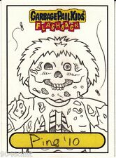 2010 GARBAGE PAIL KIDS FLASHBACK SKETCH CARD JAY DECAY DEAD TED RARE PINGITORE