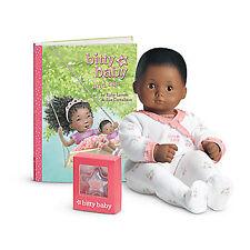 American Girl BITTY BABY  DOLL BB1 DARK SKIN, BLACK HAIR, BROWN EYES NEW