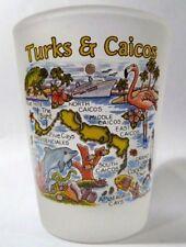 TURKS & CAICOS MAP SHOT GLASS SHOTGLASS