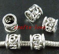 120pcs Tibet Silver Nice Tube Spacers 9x7.5mm HA43