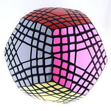 Teraminx 3-layers Megaminx Mf8 12-Sided Magic Cube Twist Puzzle Toy Black By Mf8