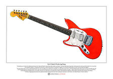 Kurt Cobain's Fender Jag-Stang Limited Edition Fine Art Print A3 size