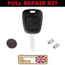 Remote key fob Peugeot 106 205 206 306 405 406 with uncut key FULL REPAIR KIT