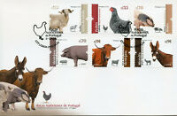 Portugal 2019 FDC Autochtonous Breeds Pigs Sheep 6v Cover Farm Animals Stamps