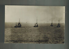 Mint WW1 German Navy Torpedo Boat Flotilla at Sea RPPC Postcard Kriegsmarine