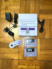 Super Nintendo SNES System Console w/  Mario World & Mario Kart Bundle CLEAN!!