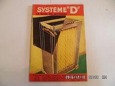 SYSTEME D N°154 10/1958 PENDERIE A COMMODE POUR CHAMBRE ENFANT JEU FLECHES   D85