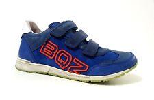 New $100 BRAQEEZ Kids Boys Running Shoes Athletic LEATHER Size 1,5 USA/33 EURO