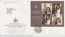 LONDON PMK GB ROYAL MAIL FDC 2011 ROYAL WEDDING PRINCE WILLIAM  MINIATURE SHEET