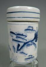 China Chinese Porcelain Blue & White Dragon Decor Lidded Box ca. 19-20th c. #2
