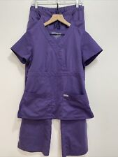 Grey's Anatomy By Barco Professional Wear Purple Scrubs 2 Piece Womens Small