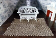 "Designer Fabric 1:12 DOLLHOUSE RUG 9"" x 6"" Lee Jofa"