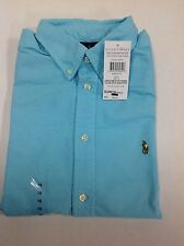 Ralph Lauren Solid Oxford Short Sleeve Mens Junior Boys Shirt, Size age (18-20)
