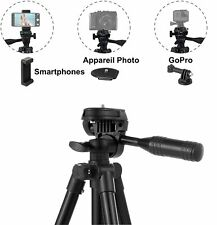 Trepied Appareil Photo Smartphone Gopro Camera Telecommande Bluetooth Leger Noir