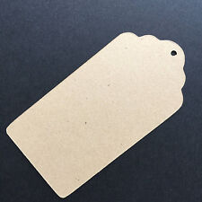 Kraft paper tags,cardstock paper tags,scallop rectangle tag 45pc