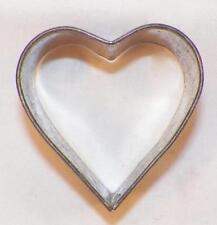 Vintage Tin Cookie Cutter Heart Folk Art Open Back #22